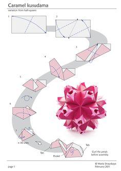 origami flower instruction diagram 3 phase motor wiring 12 leads 1000+ images about kusudama on pinterest | origami, modular and venus