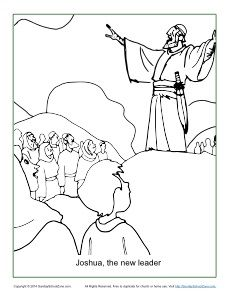 joshua fought the battle of jericho coloring pages