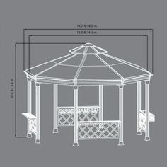 Sunjoy 13 ft. x 14 ft. Royal Octagon Hardtop Gazebo