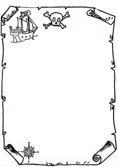 A page border featuring pirate graphics and styled to look