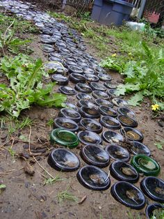 Recycled Glass Bottles As Garden Path This Site Has Some Really