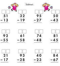2 Digit Borrow Subtraction – Regrouping