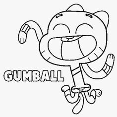 How to Draw Gumball from the Amazing Adventures of Gumball