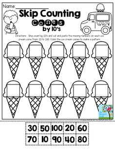 Skip counting, 100 chart and By 2 on Pinterest