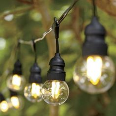 clear led filament string lights globe