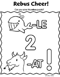 Rebus puzzles, Coloring pages and Puzzles on Pinterest
