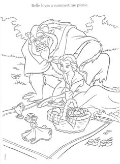 beauty and the beast wedding themed coloring books for the