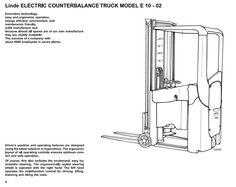 Linde Electric Forklift Truck 335-02 Series Explosion