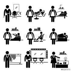 Hospital Medical Therapy Treatment Stick Figure Pictogram