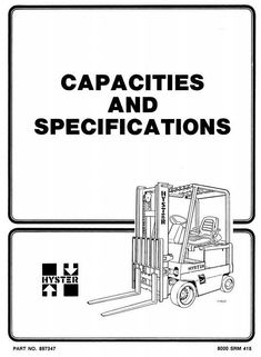 Original Illustrated Factory Workshop Manual for Hyster Electric Forklift Truck Type C098