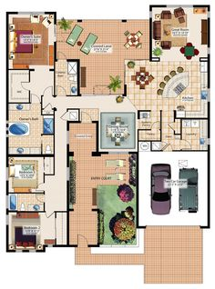 "50 Three ""3"" Bedroom Apartment House Plans Bedroom Apartment 2"