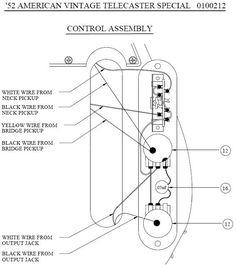 Guitar Wiring Diagram 2 Humbuckers/3-Way Toggle Switch/1