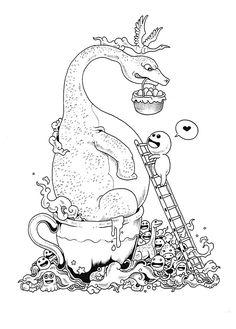 Doodle Invasion: Zifflin's Coloring Book: Zifflin, Kerby