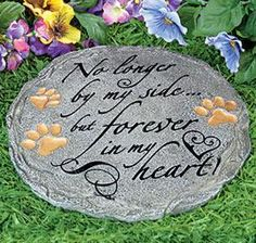 Pawprints In Heaven Pet Memorial Stone #PetMemorial Gifts Pet