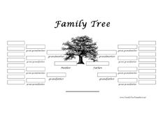 More than 100 family tree templates you can download and