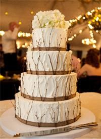 rustic cakes for wed