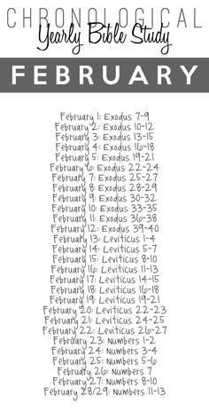 Printable Chronological Bible Reading Schedule from