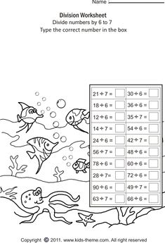 Fun math worksheets, Math division and Division on Pinterest