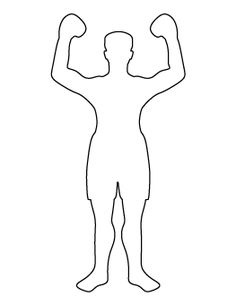 Football player pattern. Use the printable outline for