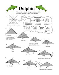 Dolphins, Origami and How to make on Pinterest