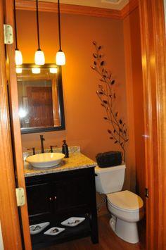 light orange color bathroom 1000+ images about Orange Bathrooms on Pinterest | Orange
