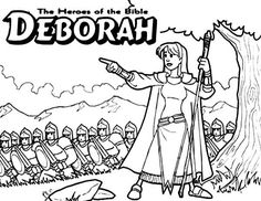 Coloring pages of The Heroes of the Bible II by