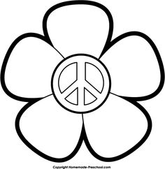 American Hippie Adult Coloring Page Art ☮ Peace Love