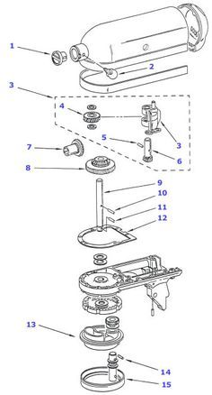 Kitchenaid Artisan Mixer Parts List. kitchenaid mixer