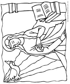 Mary, Mother of Jesus Catholic Coloring Page for kids to