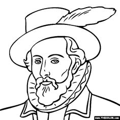 World History Coloring Pages Printables Francisco Pizarro