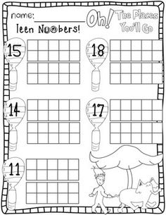FREE List of Dr. Seuss Activities and Printables: Cat in