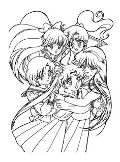 1000+ images about Sailor Moon Coloring Pages on Pinterest