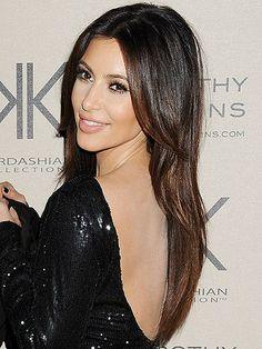 Kim Kardashian Long Straight Cut Kim Kardashian Long Hair And