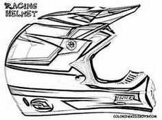 Motorcycle Helmet Coloring Page Free at YesColoring