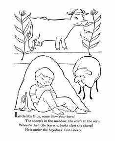 Nursery Rhyme activities: FREE Little Boy Blue nursery