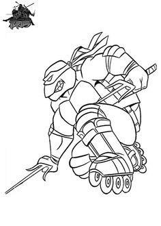 1000 Images About Ninja Turtle Coloring Pages On