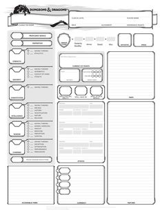 Cool character sheets