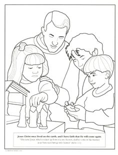 1000+ images about LDS Children's coloring pages on
