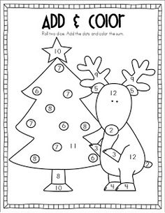Christmas math worksheets, Math worksheets and Christmas