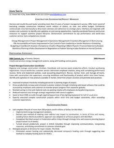 Construction Management Resume Examples   Examples Of General Resumes