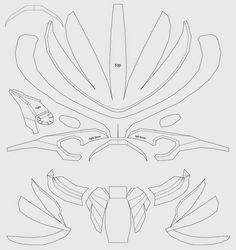 Starting my pepakura deathstroke helmet Stage 1:Download