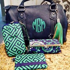 initials on handbags