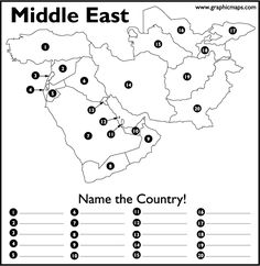 World Geography Scavenger Hunt Printable: North & Central