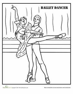 1000+ images about Ballet coloring pages on Pinterest