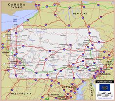 1000 images about map of pa on Pinterest Road maps