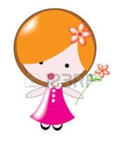cartoon little girl with red hair