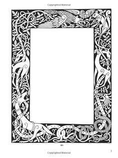 Big full page printable Celtic knot border frame at