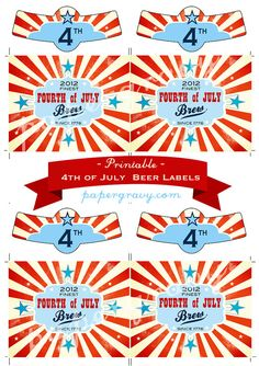 Free 4th of July Printable pennant banner free memorial