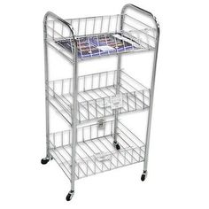 Dagda Home Small Rolling Three Tier Storage Cart with