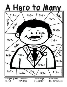 Multiplication, Multiplication facts and Presidents day on